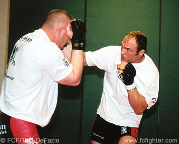 Randy Couture pre-fight training