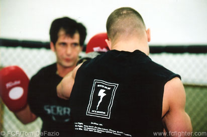 Matt Serra training