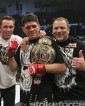 Gracie (right) with Jake Shields (left) and Diaz