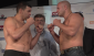 Rizzo (left) squaring off with Fedor