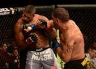Bigfoot Silva (right) spoiled the possibility of a Cain Velasquez-Alistair Overeem (left) showdown when he crushed Overeem at UFC 156