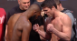 Jones (left) and Sonnen face off (photo via UFC.com)