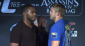 Jones and Gustafsson (right) face off (photo via UFC.com)