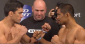 Machida (left) and Munoz (photo via UFC / FOX Sports)