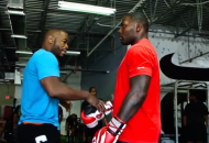 Rashad Evans (left) and Anthony Johnson (photo via UFC / ZUFFA)