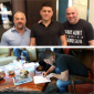 Lorenzo Fertitta, Nick Diaz (center) and Dana White (right) (photo via Twitter/ @danawhite)