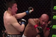 Johnson hitting Horiguchi