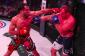 Mousasi attacking Shlemenko (right) (photo via Bellator)