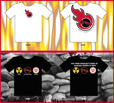 Flame and War shirts