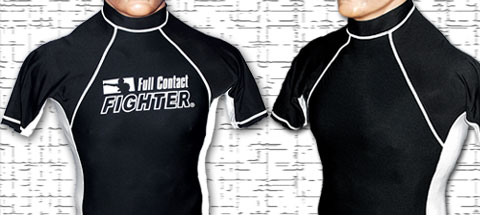 Two-toned short sleeved rashguard