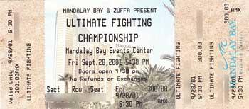 UFC ticket