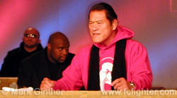 Antonio Inoki addresses the press