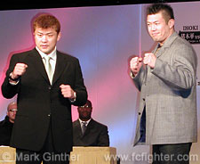 Hidehiko Yoshida (left) vs. Masaaki Satake
