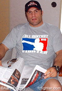 Randy Couture reading FCF