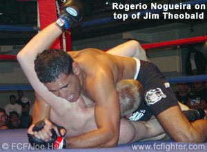 Rogerio Nogueira on top of Jim Theobald
