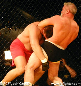 Tim Catalfo choking Dave Beneteau