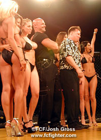Terry Trebilcock with ring girls