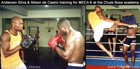 Anderson Silva and Nilson de Castro training for MECA at the Chute Boxe academy
