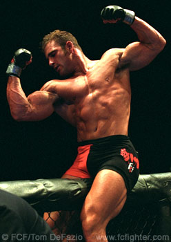 Phil Baroni celebrates after winning his match in MEGAFIGHT 1