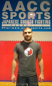 Antonio Carvalho at Abe Ani Combat Club gym - Photo courtesy of Antonio Carvalho