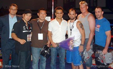 (left-right) Wiseman, Sakurai, Shoji, Sakakibara, Pearson, Barnett, Hume