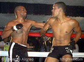 Fabricio (left) trading punches with Hugo