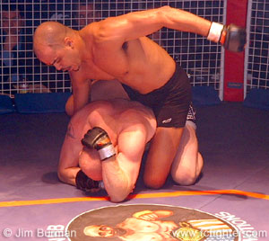 Jorge Rivera beating on Andy Langden