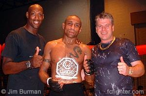 UFC veteran Mark Weir, Matt Ewin, Promoter Dougie Truman
