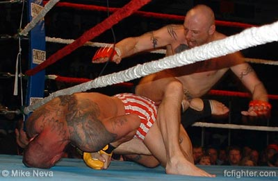 Shannon Ritch submitting Chris Peak with a heel hook