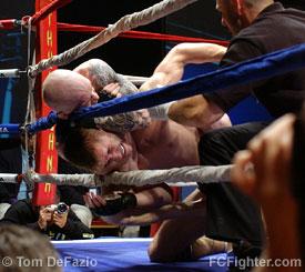 Joachim Hansen choking Sergei Goliaev