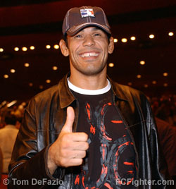 Antonio Rodrigo Nogueira wearing a cool hat
