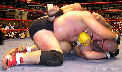 Dan Severn pulling Shannon Ritch off his back