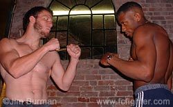 Jason Black (left) vs. Michael Johnson