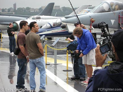 IFL/Intrepid: Renzo and the camera crew - Photo by Jim Genia