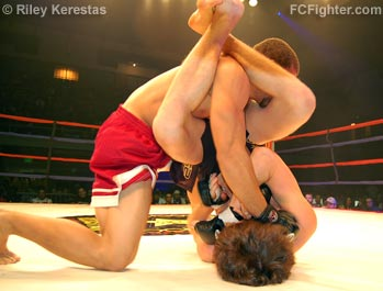 Ironheart Crown 11: Micah Miller submits Josh Lee - Photo by Riley Kerestas