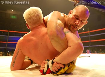 Ironheart Crown 11: Don Richard finishes Allan Weickert with a Kimura - Photo by Riley Kerestas
