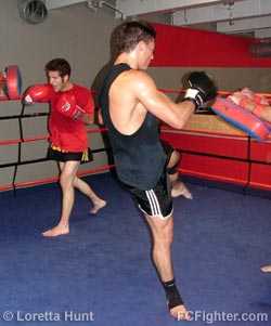 Muay Thai training at Legends Gym - Photo by Loretta Hunt