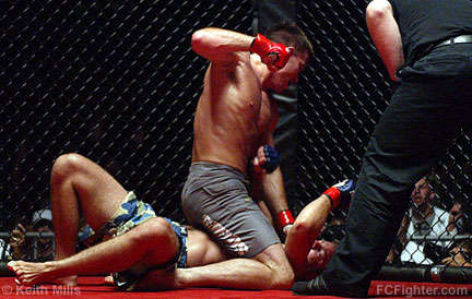 Malice at the Palice (Sep. 9, 2006): Jake Shields mounted on Steve Berger - Photo by Keith Mills