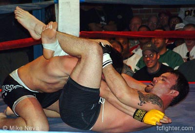 Dave Cochran finishing Joe Gamer with a triangle choke