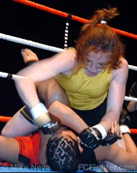 Kaufman (top) punching Posener