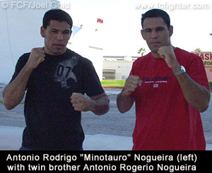 Rogerio Nogueira with twin brother Minotauro