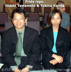 Pride reps Hideki Yamamoto and Yukino Kanda