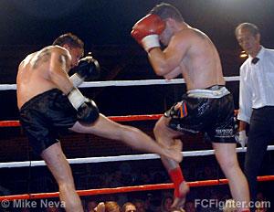 Trevor Smandych kicking Shawn Yacoubian
