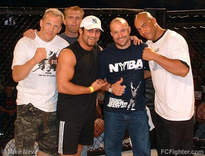 MMA stars were out in full force (L-R) Bill Mahood, Trevor Prangley, Phil Baroni, Cook and Bobby Southworth - Photo by Mike Neva