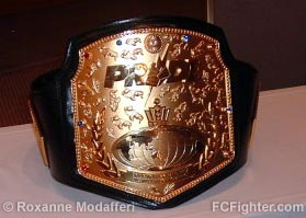 Pride Middleweight Grand Prix title belt