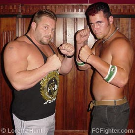 Heavyweights Matt Thomas and Patrick Lachney