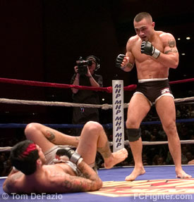 Ring of Combat 12: Rich Boine (right) vs. Kevin Roddy - Photo by Tom DeFazio