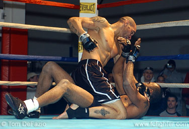 Jay Hieron pounding out a win over Jermaine Johnson