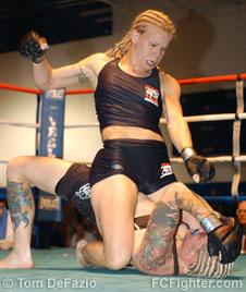Laura D'Auguste pummeling Christine Jensen