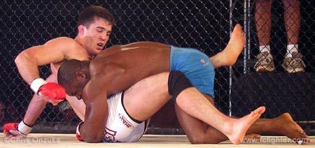 Homer Moore on top of Chael Sonnen
